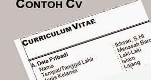 Contoh resume memohon jawatan pensyarah